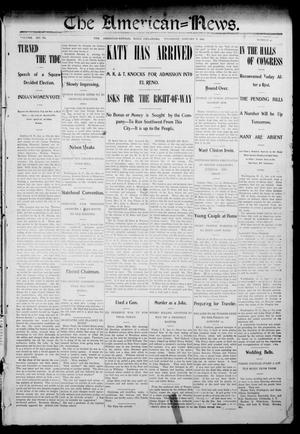 Primary view of object titled 'The American--News. (El Reno, Okla.), Vol. 6, No. 41, Ed. 1 Thursday, January 8, 1903'.