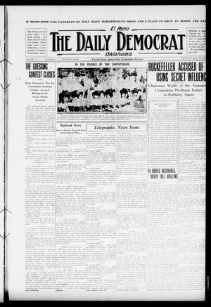 Primary view of object titled 'El Reno The Daily Democrat Oklahoma (El Reno, Okla.), Vol. 25, No. 40, Ed. 1 Saturday, April 24, 1915'.