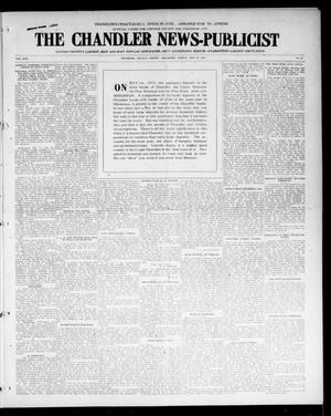 Primary view of object titled 'The Chandler News-Publicist (Chandler, Okla.), Vol. 24, No. 35, Ed. 1 Friday, May 14, 1915'.