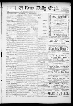 Primary view of object titled 'El Reno Daily Eagle. (El Reno, Okla.), Vol. 1, No. 125, Ed. 1 Tuesday, February 26, 1895'.