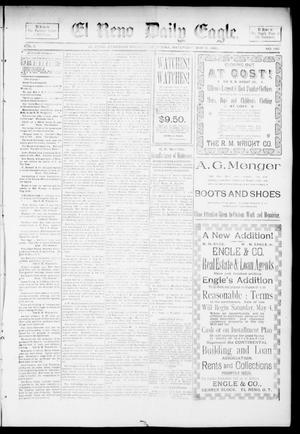 Primary view of object titled 'El Reno Daily Eagle. (El Reno, Okla.), Vol. 1, No. 189, Ed. 1 Saturday, May 11, 1895'.
