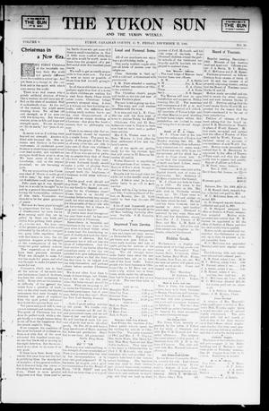 Primary view of object titled 'The Yukon Sun And The Yukon Weekly. (Yukon, Okla. Terr.), Vol. 9, No. 50, Ed. 1 Friday, December 13, 1901'.