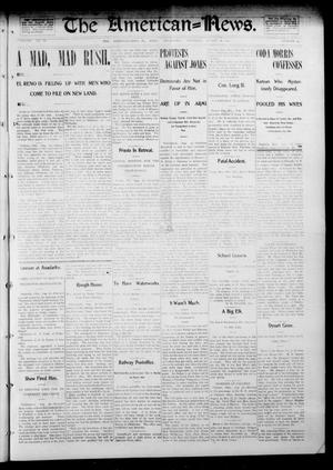 Primary view of object titled 'The American--News. (El Reno, Okla.), Vol. 6, No. 20, Ed. 1 Thursday, August 28, 1902'.