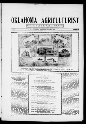 Primary view of object titled 'Oklahoma Agriculturist (El Reno, Okla.), Vol. 1, No. 22, Ed. 1 Thursday, January 31, 1907'.
