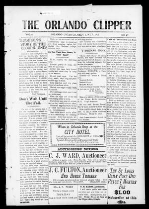 Primary view of object titled 'The Orlando Clipper (Orlando, Okla.), Vol. 6, No. 29, Ed. 1 Friday, June 7, 1912'.