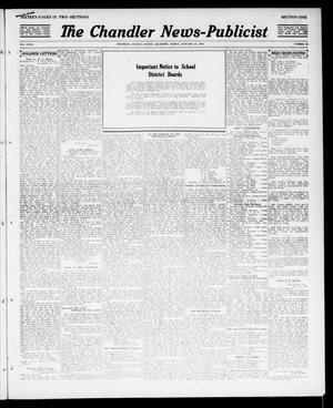 Primary view of object titled 'The Chandler News-Publicist (Chandler, Okla.), Vol. 27, No. 20, Ed. 1 Friday, January 25, 1918'.