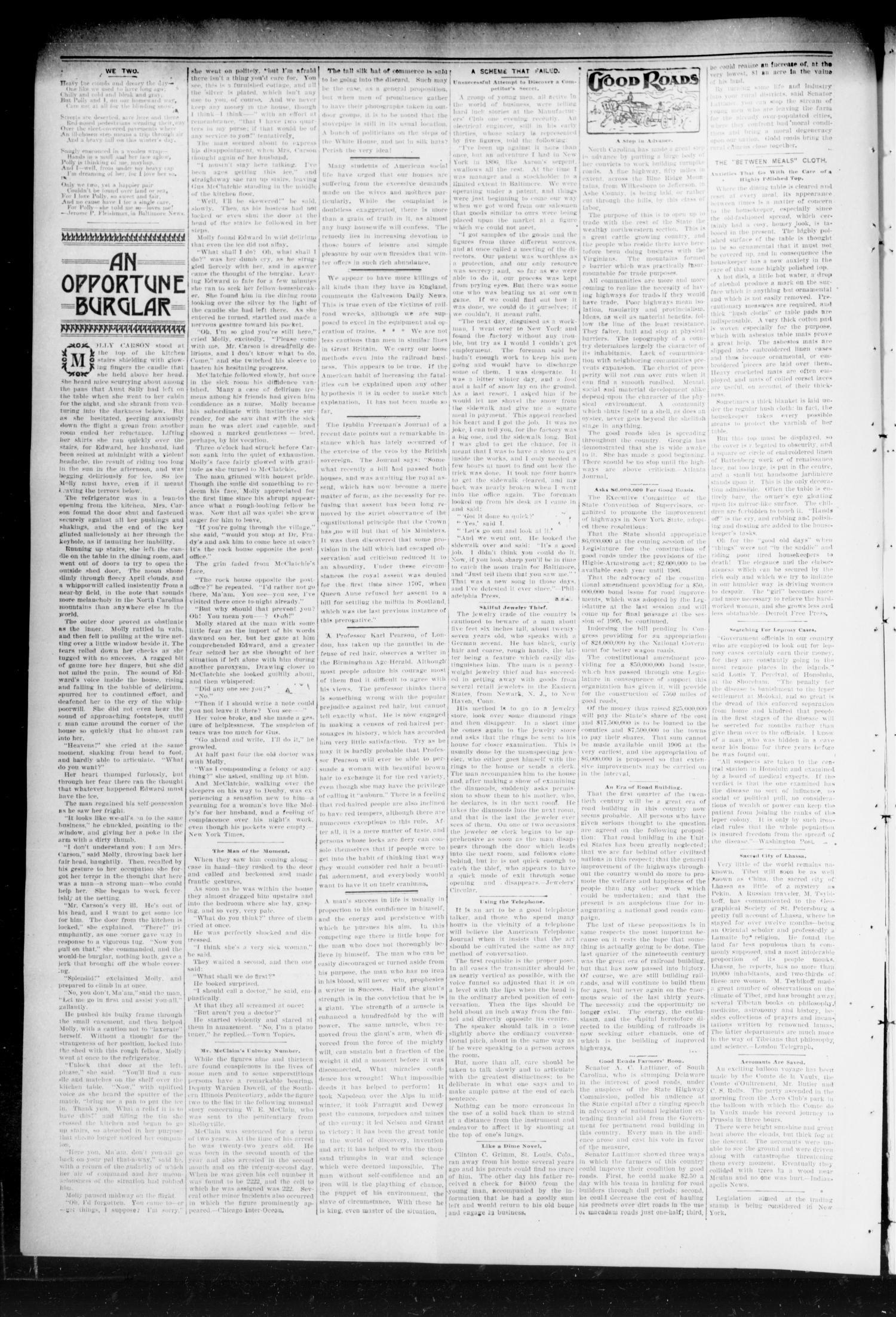 Chandler Daily Publicist. (Chandler, Okla. Terr.), Vol. 2, No. 261, Ed. 1 Tuesday, February 2, 1904                                                                                                      [Sequence #]: 4 of 4