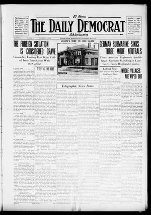 Primary view of object titled 'El Reno The Daily Democrat Oklahoma (El Reno, Okla.), Vol. 25, No. 75, Ed. 1 Friday, June 4, 1915'.