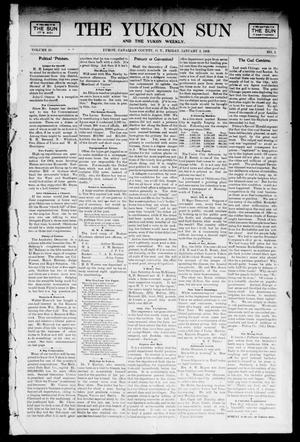 Primary view of object titled 'The Yukon Sun And The Yukon Weekly. (Yukon, Okla. Terr.), Vol. 10, No. 1, Ed. 1 Friday, January 3, 1902'.