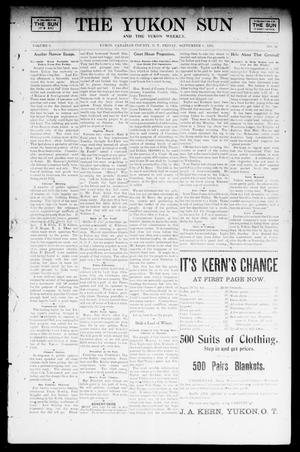 Primary view of object titled 'The Yukon Sun And The Yukon Weekly. (Yukon, Okla. Terr.), Vol. 9, No. 36, Ed. 1 Friday, September 6, 1901'.