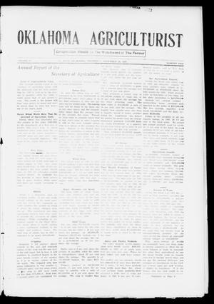 Primary view of object titled 'Oklahoma Agriculturist (El Reno, Okla.), Vol. 2, No. 18, Ed. 1 Thursday, November 28, 1907'.