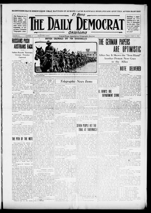 Primary view of object titled 'El Reno The Daily Democrat Oklahoma (El Reno, Okla.), Vol. 25, No. 81, Ed. 1 Friday, June 11, 1915'.