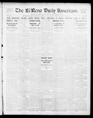 Primary view of object titled 'The El Reno Daily American. (El Reno, Okla. Terr.), Vol. 1, No. 46, Ed. 1 Saturday, August 31, 1901'.