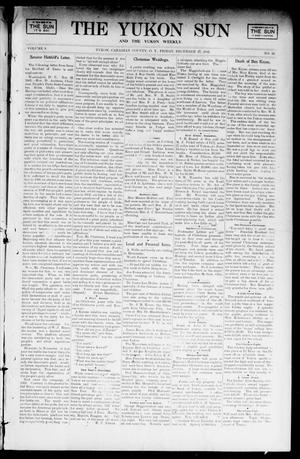Primary view of object titled 'The Yukon Sun And The Yukon Weekly. (Yukon, Okla. Terr.), Vol. 9, No. 52, Ed. 1 Friday, December 27, 1901'.
