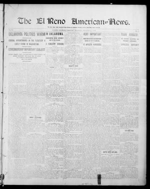 Primary view of object titled 'The El Reno American--News. (El Reno, Okla. Terr.), Vol. 6, No. 33, Ed. 1 Thursday, November 14, 1901'.