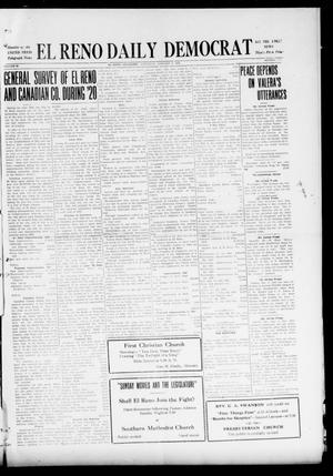 Primary view of object titled 'El Reno Daily Democrat (El Reno, Okla.), Vol. 29, No. 230, Ed. 1 Saturday, January 8, 1921'.
