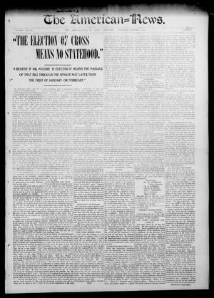 Primary view of object titled 'The American--News. (El Reno, Okla.), Vol. 6, No. 26, Ed. 1 Thursday, October 2, 1902'.