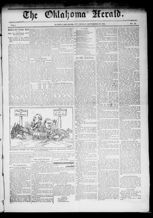 Primary view of object titled 'The Oklahoma Herald. (El Reno, Okla. Terr.), Vol. 4, No. 32, Ed. 1 Friday, September 16, 1892'.