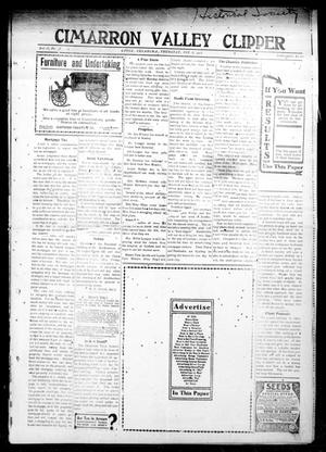 Primary view of object titled 'Cimarron Valley Clipper (Coyle, Okla.), Vol. 12, No. 38, Ed. 1 Thursday, February 6, 1913'.