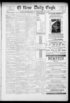 Primary view of object titled 'El Reno Daily Eagle. (El Reno, Okla.), Vol. 1, No. 238, Ed. 1 Monday, July 8, 1895'.