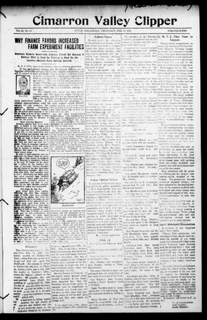Primary view of Cimarron Valley Clipper (Coyle, Okla.), Vol. 23, No. 30, Ed. 1 Thursday, February 21, 1924
