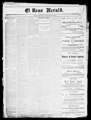 Primary view of El Reno Herald. (El Reno, Okla., Indian Terr.), Vol. 3, No. [48], Ed. 1 Friday, May 13, 1892