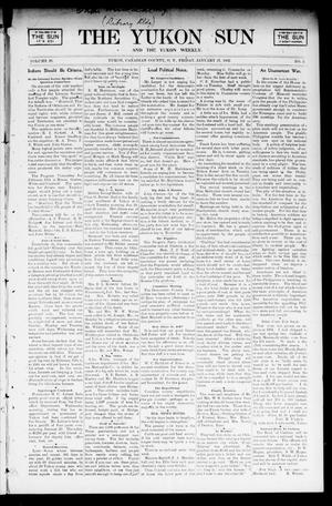 Primary view of object titled 'The Yukon Sun And The Yukon Weekly. (Yukon, Okla. Terr.), Vol. 10, No. 5, Ed. 1 Friday, January 31, 1902'.