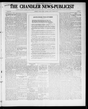 Primary view of object titled 'The Chandler News-Publicist (Chandler, Okla.), Vol. 25, No. 6, Ed. 1 Friday, October 22, 1915'.