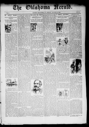 Primary view of object titled 'The Oklahoma Herald. (El Reno, Okla. Terr.), Vol. 4, No. 10, Ed. 1 Friday, August 19, 1892'.