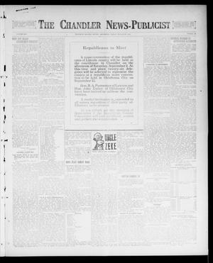 Primary view of object titled 'The Chandler News-Publicist (Chandler, Okla.), Vol. 25, No. 50, Ed. 1 Friday, August 25, 1916'.