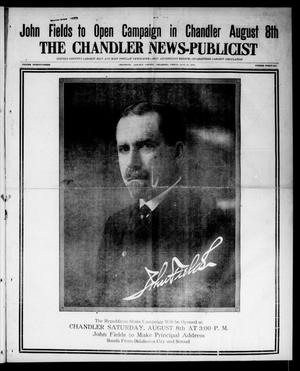 Primary view of object titled 'The Chandler News-Publicist (Chandler, Okla.), Vol. 23, No. 46, Ed. 1 Friday, July 31, 1914'.