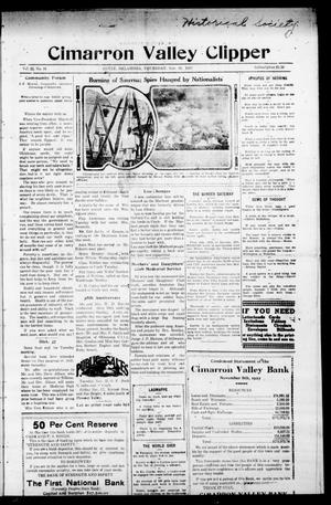 Primary view of object titled 'Cimarron Valley Clipper (Coyle, Okla.), Vol. 22, No. 16, Ed. 1 Thursday, November 16, 1922'.