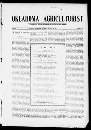 Primary view of object titled 'Oklahoma Agriculturist (El Reno, Okla.), Vol. 2, No. 12, Ed. 1 Thursday, August 29, 1907'.