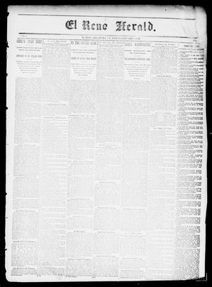 Primary view of object titled 'El Reno Herald. (El Reno, Okla., Indian Terr.), Vol. 3, No. [29], Ed. 1 Friday, January 1, 1892'.