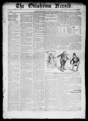 Primary view of object titled 'The Oklahoma Herald. (El Reno, Okla. Terr.), Vol. 4, No. 12, Ed. 1 Friday, September 2, 1892'.