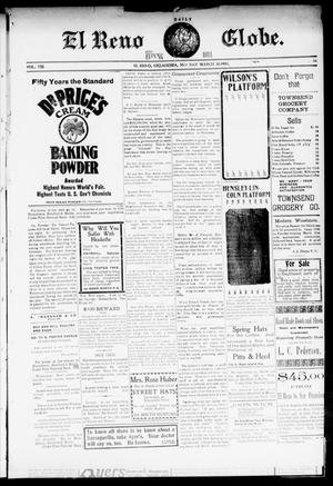 Primary view of object titled 'El Reno Daily Globe. And Evening Bell. (El Reno, Okla.), Vol. 8, No. 184, Ed. 1 Monday, March 30, 1903'.