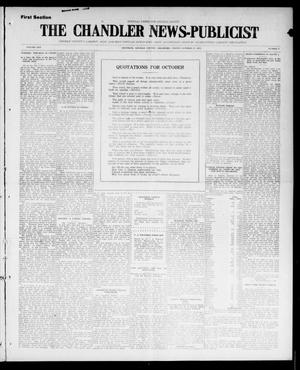 Primary view of object titled 'The Chandler News-Publicist (Chandler, Okla.), Vol. 25, No. 5, Ed. 1 Friday, October 15, 1915'.
