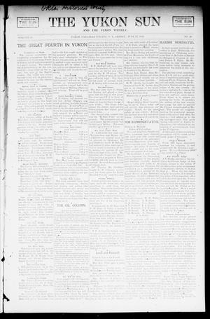 Primary view of object titled 'The Yukon Sun And The Yukon Weekly. (Yukon, Okla. Terr.), Vol. 10, No. 26, Ed. 1 Friday, June 27, 1902'.