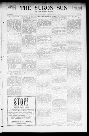 Primary view of object titled 'The Yukon Sun And The Yukon Weekly. (Yukon, Okla. Terr.), Vol. 10, No. 16, Ed. 1 Friday, April 18, 1902'.