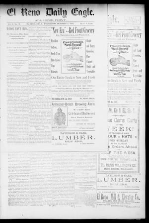 Primary view of object titled 'El Reno Daily Eagle. (El Reno, Okla.), Vol. 1, No. 12, Ed. 1 Wednesday, October 2, 1895'.