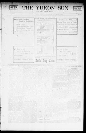 Primary view of object titled 'The Yukon Sun And The Yukon Weekly. (Yukon, Okla. Terr.), Vol. 9, No. 37, Ed. 1 Friday, September 13, 1901'.