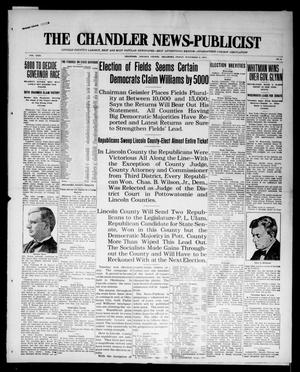 Primary view of object titled 'The Chandler News-Publicist (Chandler, Okla.), Vol. 24, No. 8, Ed. 1 Friday, November 6, 1914'.