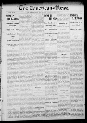 Primary view of object titled 'The American--News. (El Reno, Okla.), Vol. 6, No. 37, Ed. 1 Thursday, December 11, 1902'.