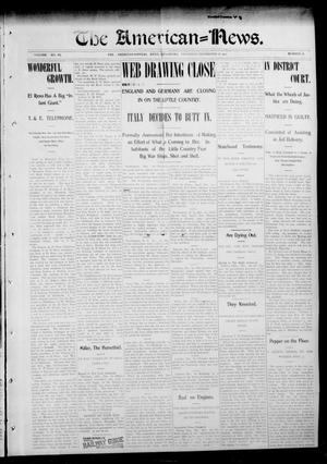 Primary view of object titled 'The American--News. (El Reno, Okla.), Vol. 6, No. 38, Ed. 1 Thursday, December 18, 1902'.