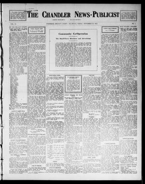 Primary view of object titled 'The Chandler News-Publicist (Chandler, Okla.), Vol. 23, No. 1, Ed. 1 Friday, September 19, 1913'.