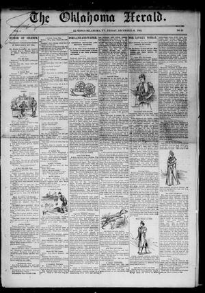 Primary view of object titled 'The Oklahoma Herald. (El Reno, Okla. Terr.), Vol. 4, No. 35, Ed. 1 Friday, December 16, 1892'.