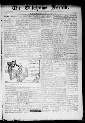 Primary view of object titled 'The Oklahoma Herald. (El Reno, Okla. Terr.), Vol. 4, No. 27, Ed. 1 Friday, October 21, 1892'.