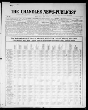 Primary view of object titled 'The Chandler News-Publicist (Chandler, Okla.), Vol. 24, No. 9, Ed. 1 Friday, November 13, 1914'.