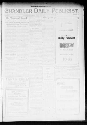 Primary view of object titled 'Chandler Daily Publicist. (Chandler, Okla. Terr.), Vol. 2, No. 277, Ed. 1 Saturday, February 20, 1904'.