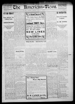 Primary view of object titled 'The American--News. (El Reno, Okla. Terr.), Vol. 6, No. 17, Ed. 1 Thursday, August 7, 1902'.